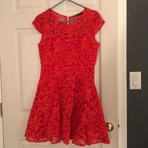 Red lace skater dress!